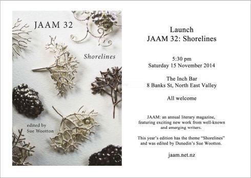 Dunedin launch for JAAM 32
